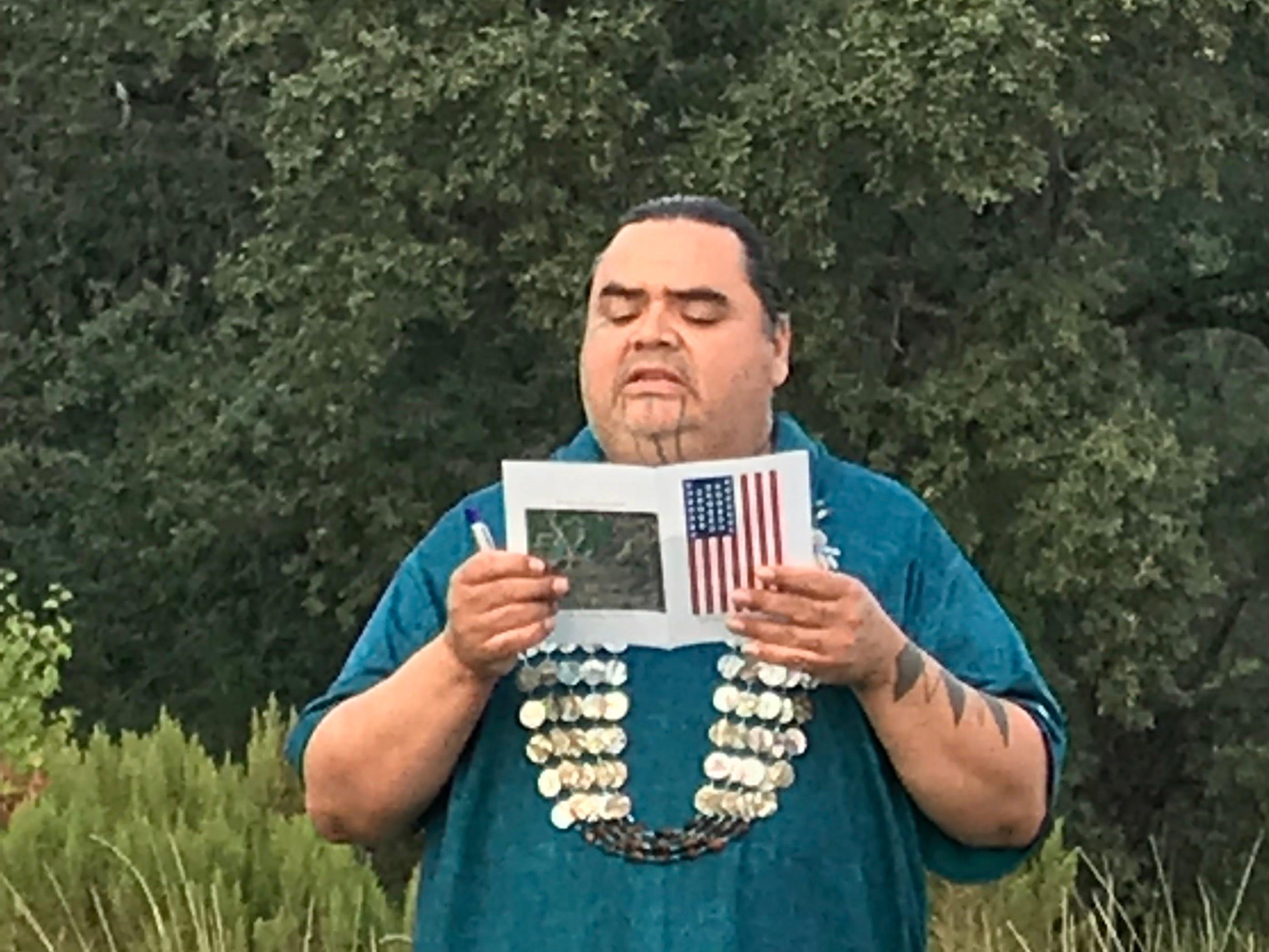 Healing ceremony for broken treaty, Carr Fire evacuees