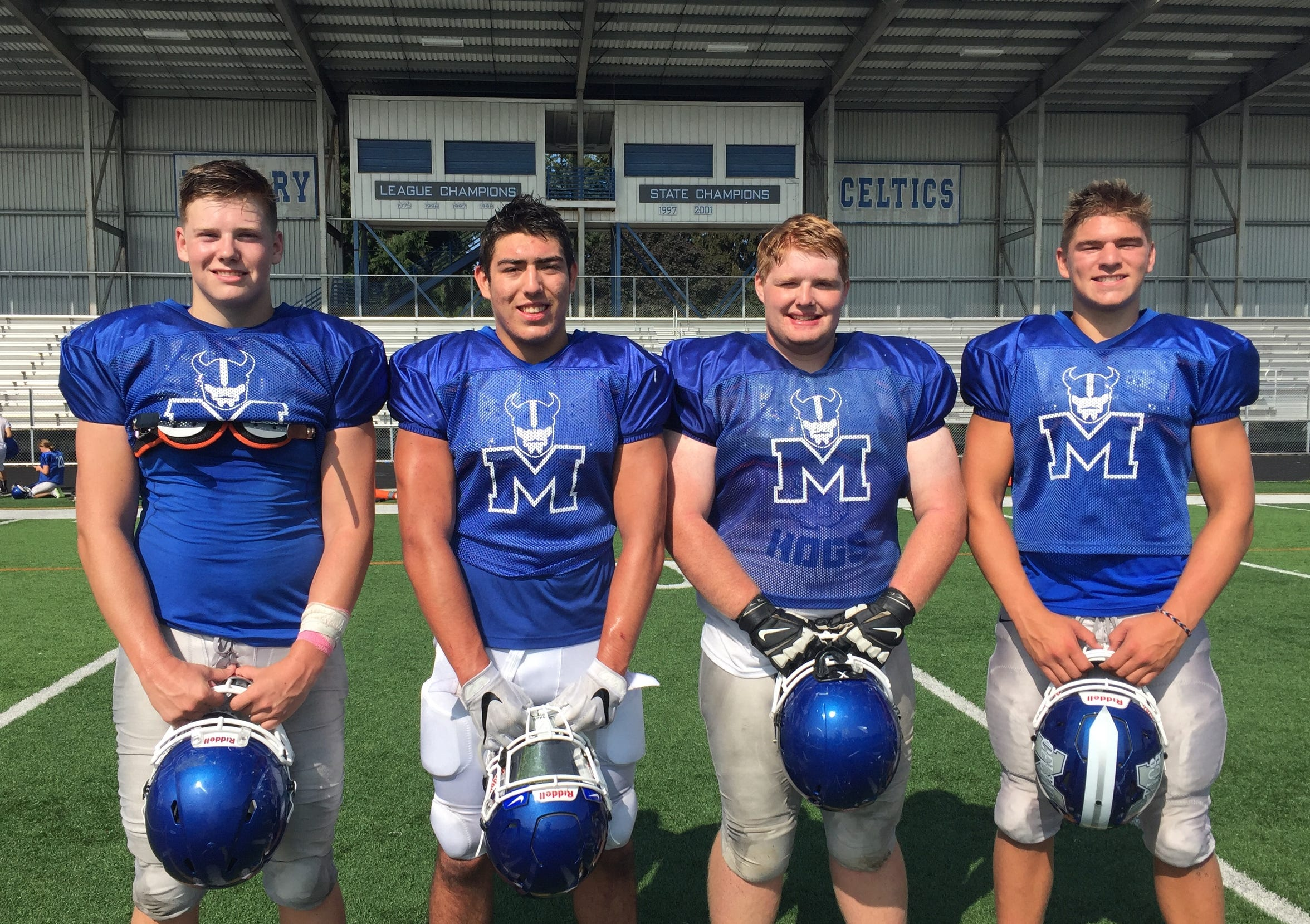 Key players for McNary include (from left) Wyatt Sherwood, Junior Walling, Josh Schmeltzer and Erik Barker.