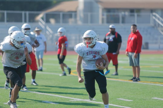 Behind big bodies up front, the Vikings running game could be prolific this season with the likes of Xavier Barragan, Joe Zazueta and King City transfer Matt Morales.