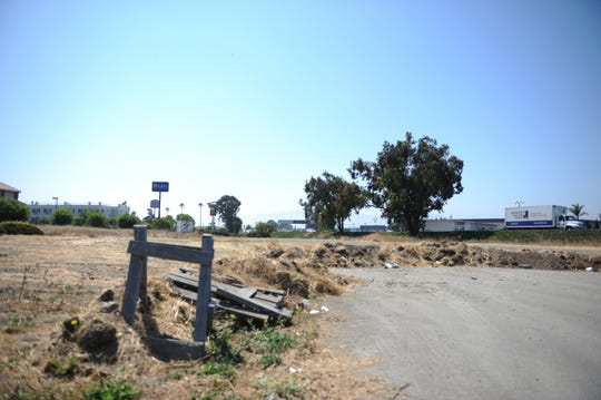 The site of a proposed 86-unit motel behind the Holiday Inn Express & Suites on Kern Street in Salinas.