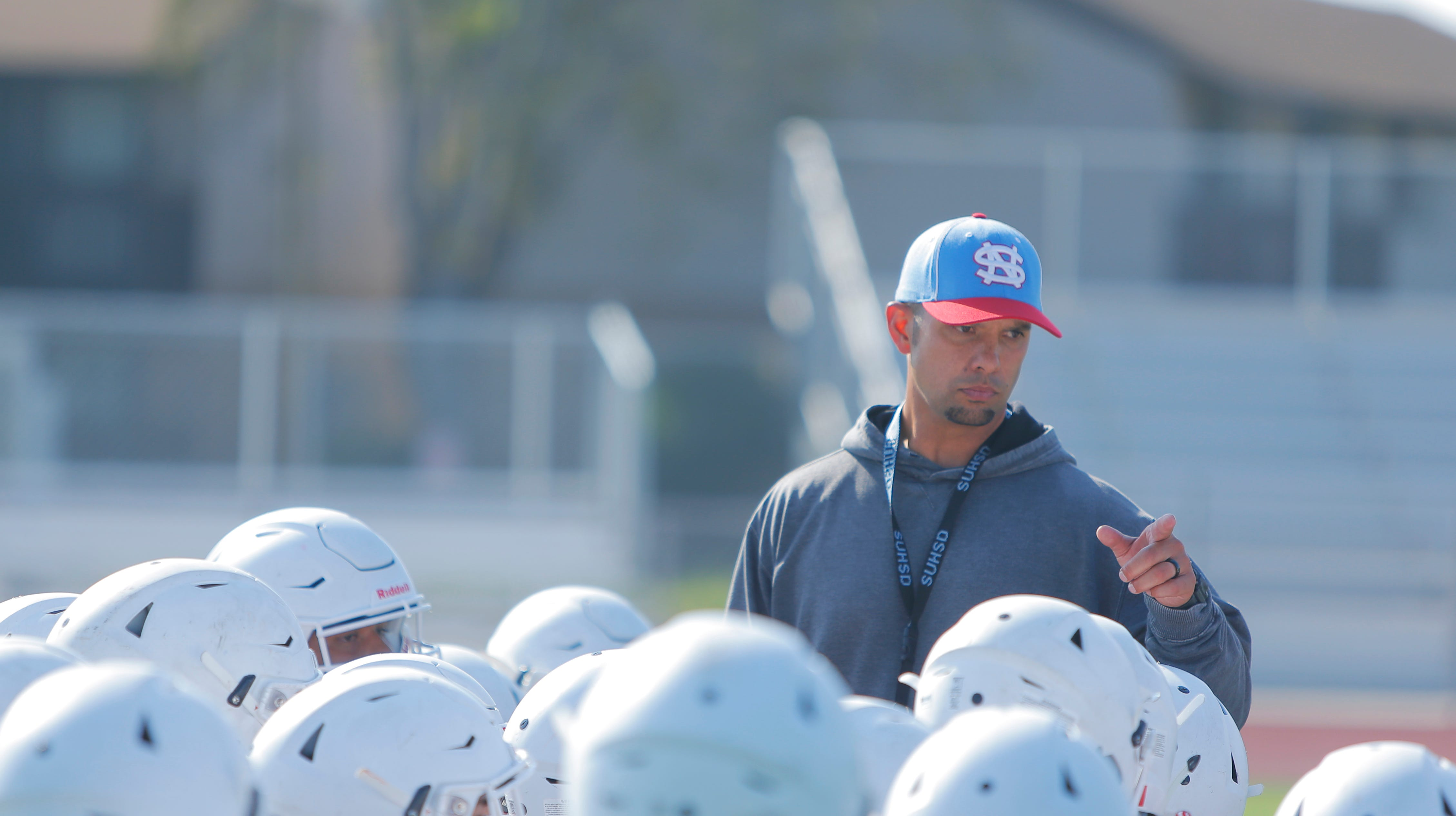 """Vikings head coach Ben Ceralde is one of the many alumni on the North Salinas coaching staff this season. """"The biggest thing to me was that 90 percent of our coaching staff is alumni,"""" he said about putting his staff together in the offseason."""