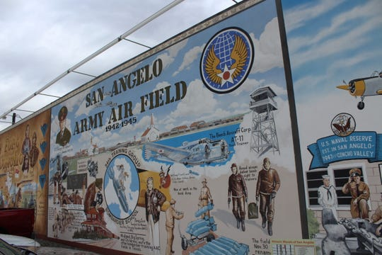 San Angelo Army Air Field mural at 108 East Concho Ave.