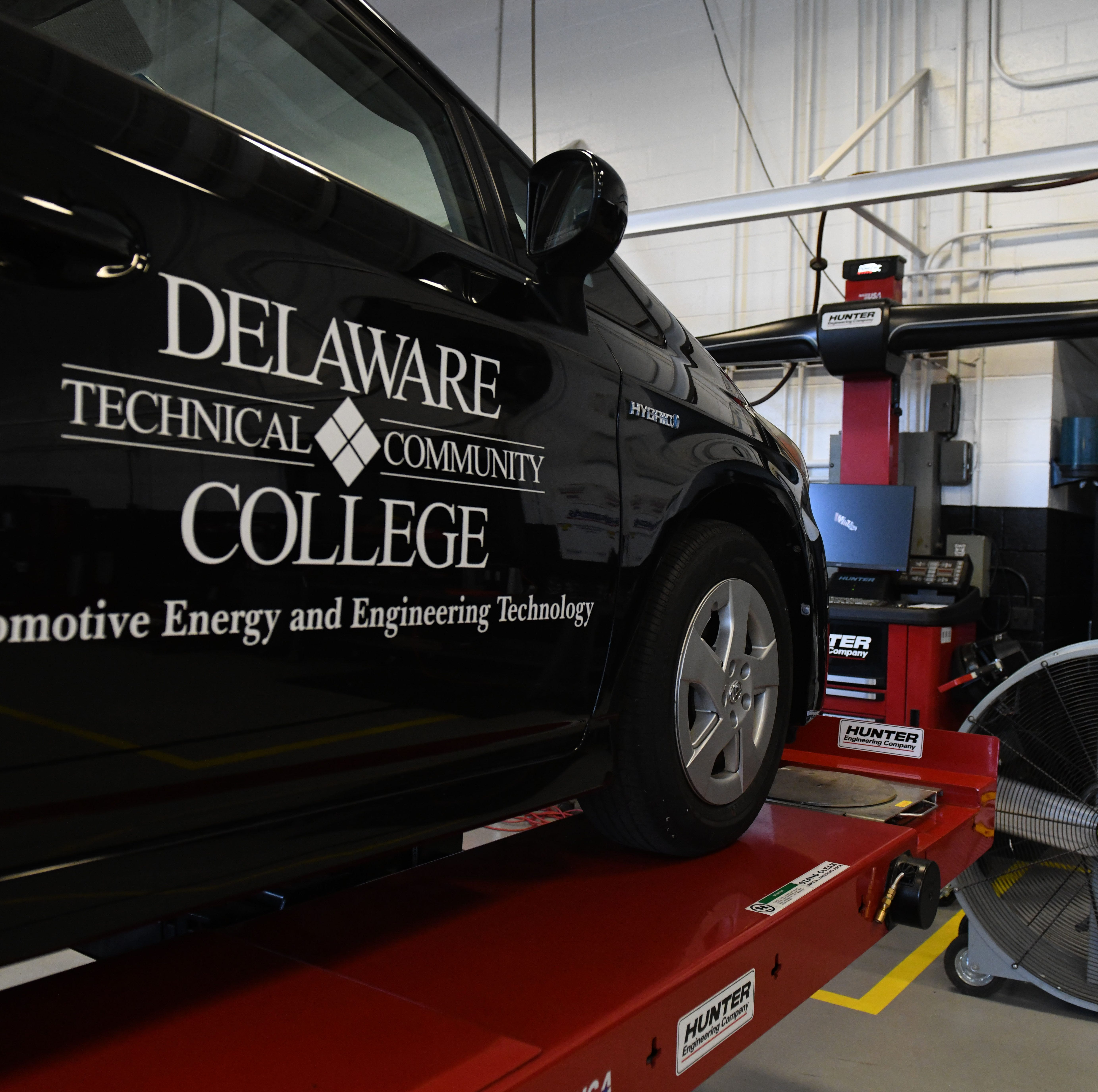 Delaware Technical Community College announces a $1.97 million grant to create the Automotive Center of Excellence at the Georgetown Campus on Friday, Aug. 17, 2018.