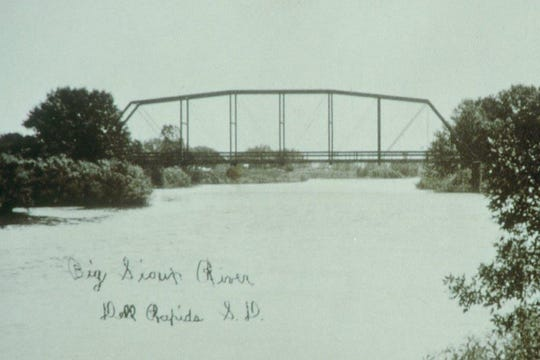 The old bridge over the Big Sioux River in Dell Rapids.