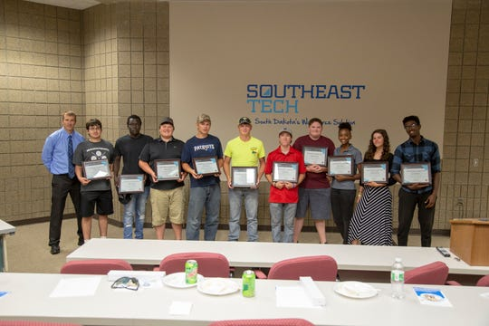 Southeast Technical Institute graduates its first group of construction pre-apprenticeship students on Aug. 10.