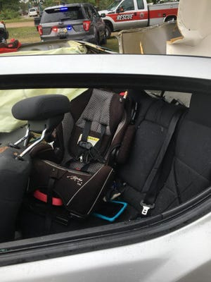Officials credit a properly installed car seat with saving a child's life on Aug. 15 in Texas County. The 3-year-old boy's parents both died in the crash.