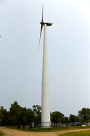 The wind turbine shown Friday, Aug. 17, at the St. Cloud VA Health Care System will be taken down in 2019 after a competitive bid process.