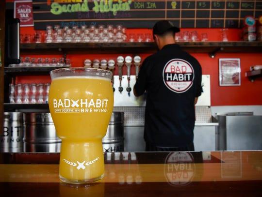 Bad Habit Brewing  Tuesday, Aug. 14, in St. Joseph.Erik Salmi, Eric Geier, Aaron Rieland and Mo Philippi
