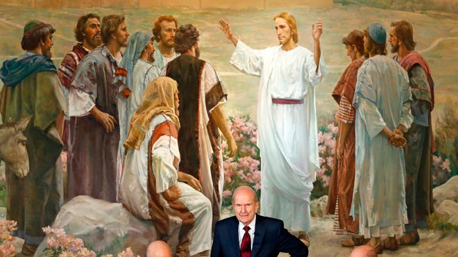 "In this Jan. 16, 2018, photo, President Russell M. Nelson looks on following a news conference in Salt Lake City. He is asking people to refrain from using ""Mormon"" or ""LDS"" as a substitute for the full name of the religion: The Church of Jesus Christ of Latter-day Saints."