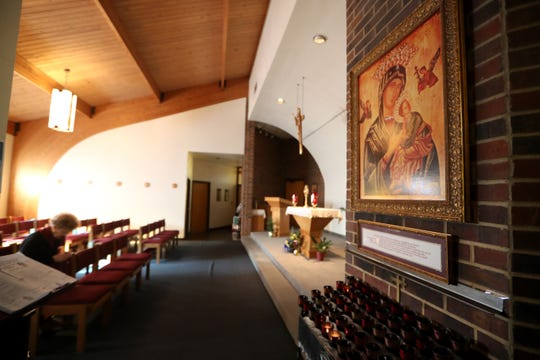 File art of Blessed Sacrament Catholic Church in Tallahassee