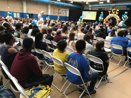Hundreds of incoming freshmen at Tallahassee Community College attended a convocation Friday. Classes start on Monday, Aug. 20, 2018.