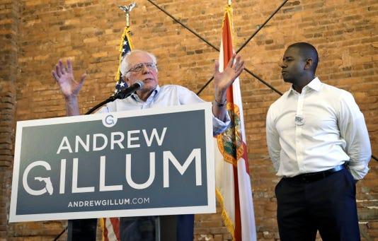 Bernie Sanders Andrew Gillum