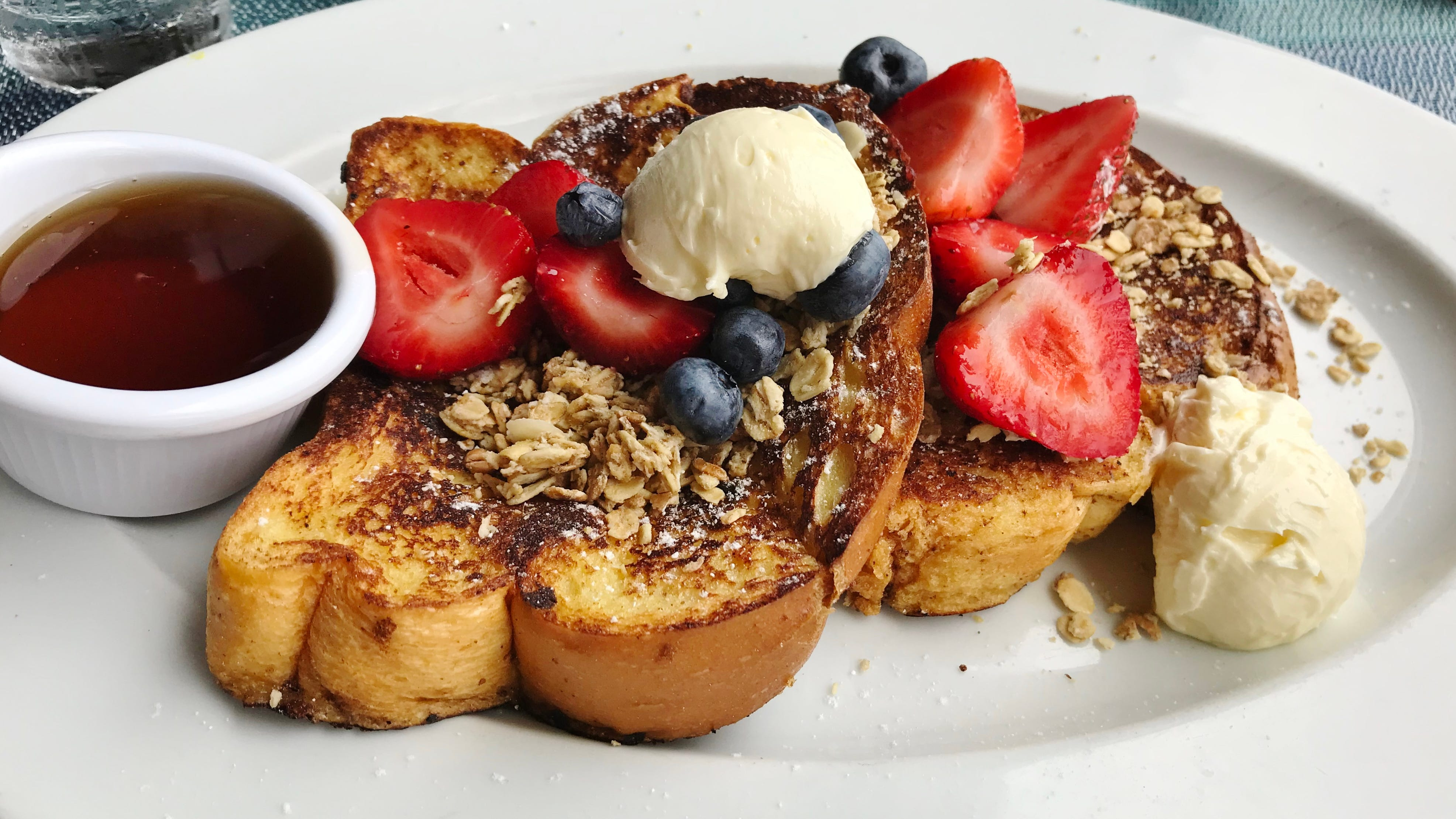 Kyle G's Prime Seafood's granola French toast was...