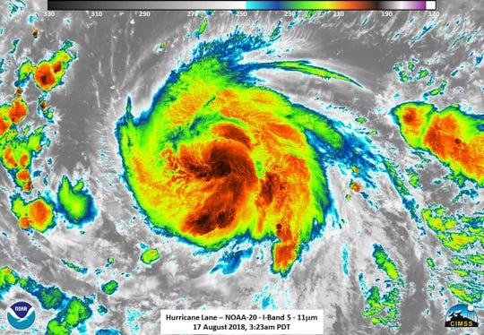 Hurricane Lane Aug. 17, 2018