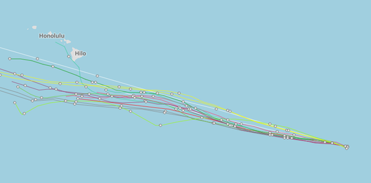 Hurricane Lane tracks 5 a.m. Aug. 17, 2018
