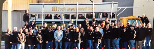 South Jersey Glass & Door staff pose for a group photograph.