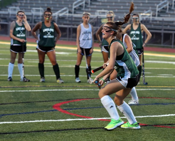 Lakeland field hockey player Juliana Cappello practices with the team Aug. 16.