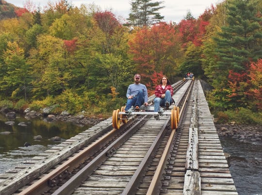 Revolution Rails allows you to travel over tracks used by long-ago trains on special rail bikes to see some spectacular Adirondack scenery.