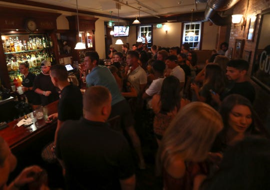 Catherine Rooney's attracts a nighttime crowd on Main Street in Newark for its popular Thirsty Thursdays. The restaurant and bar has changed hands and is assuming a new identity.