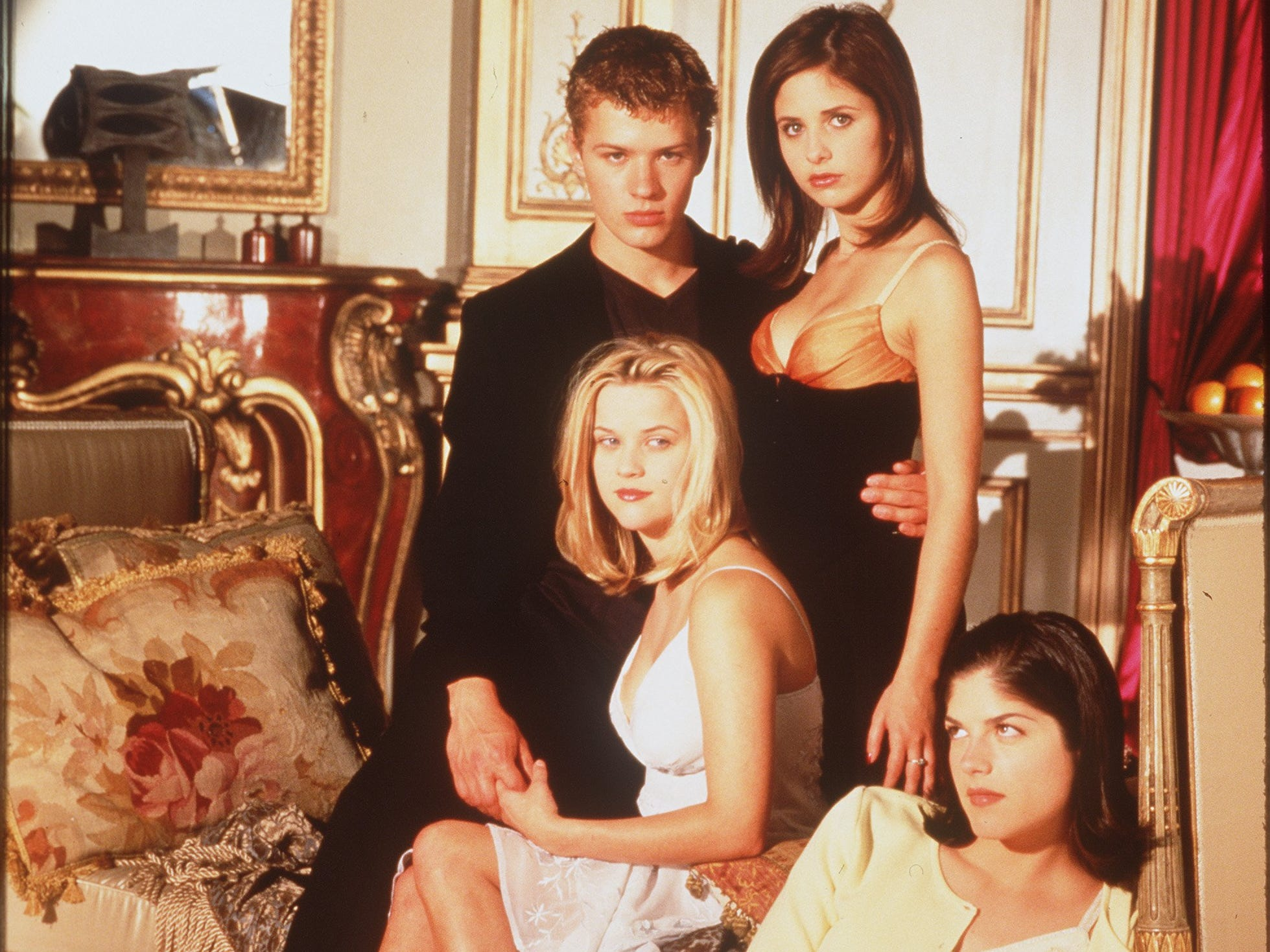 'Cruel Intentions': Ryan Phillippe, Sarah Michelle Gellar, Selma Blair and Reese Witherspoon in the 1999 teen adaptation of 'Dangerous Liaisons.' A lot of the style but with less critical acclaim. It did, however, earn the stars legions of young fans.