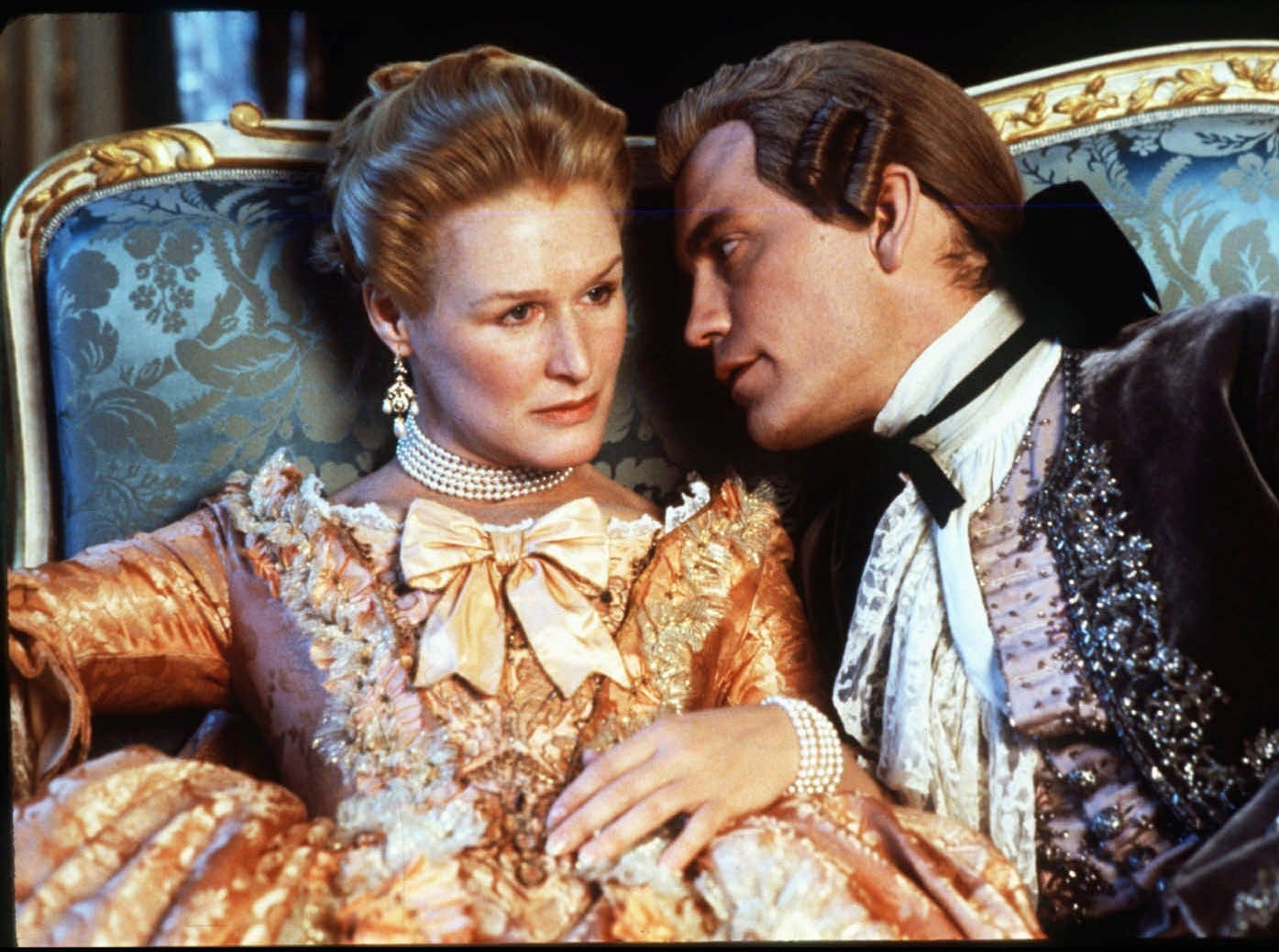 'Dangerous Liaisons': An exploration of seduction, class and manipulation in 18th century France. Starring Glenn Close, John Malkovich and Michelle Pfieffer, the movie was a hit, winning Oscars for best costume design, art direction and screenplay.