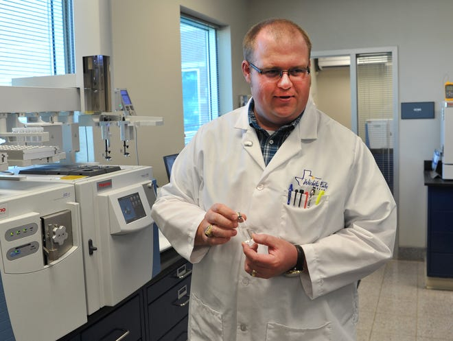 City of Wichita Falls Water Laboratory Supervisor, Hunter Adams talks about the equipment he and his department uses to detect organisms in the city water that might change the way it smells.
