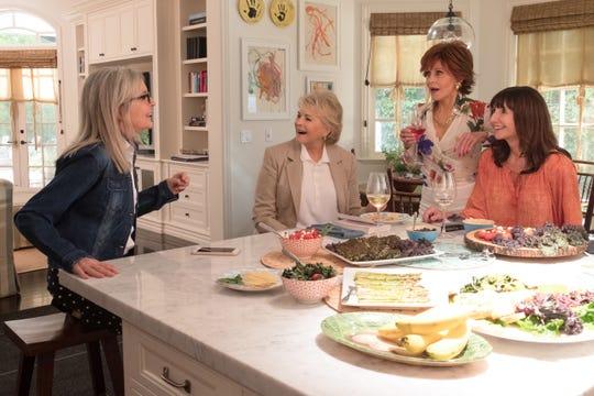 "(L-R) Diane Keaton, Candice Bergen, Jane Fonda and Mary Steenburgen star in the film, ""Book Club."""