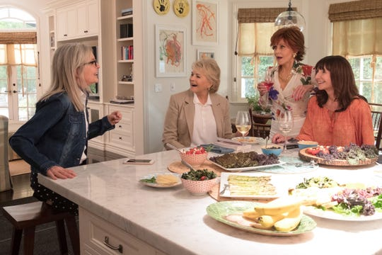 (LR) Diane Keaton, Candice Bergen, Jane Fonda and Mary Steenburgen star in the movie,