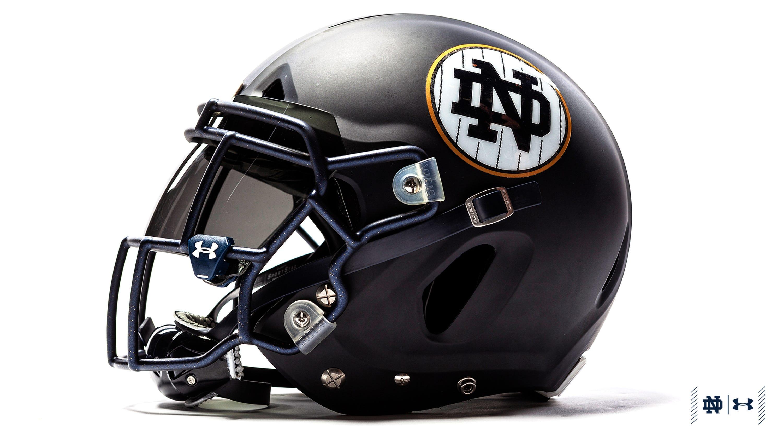 Notre Dame Shows Off Pinstripe Uniforms To Be Worn At Yankee Stadium