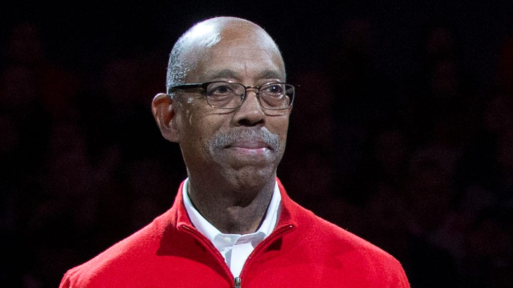 Ohio State Buckeyes president Michael Drake during a basketball game in 2016.