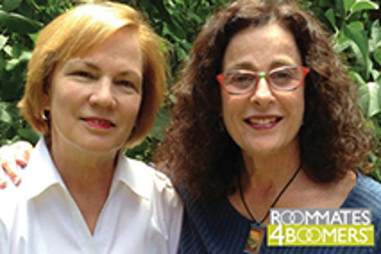 Karen Venable, left, created Roommates4boomers.com after she and her now-roommate, Carol Buckle, decided to share a house after both were divorced.
