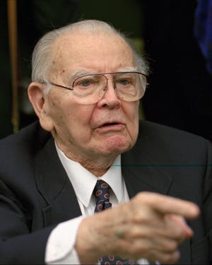 Retired Supreme Court Justice William Brennan in Washington on Nov. 10, 1994. His 1970 writing on reasonable doubt has shaped future court decisions.