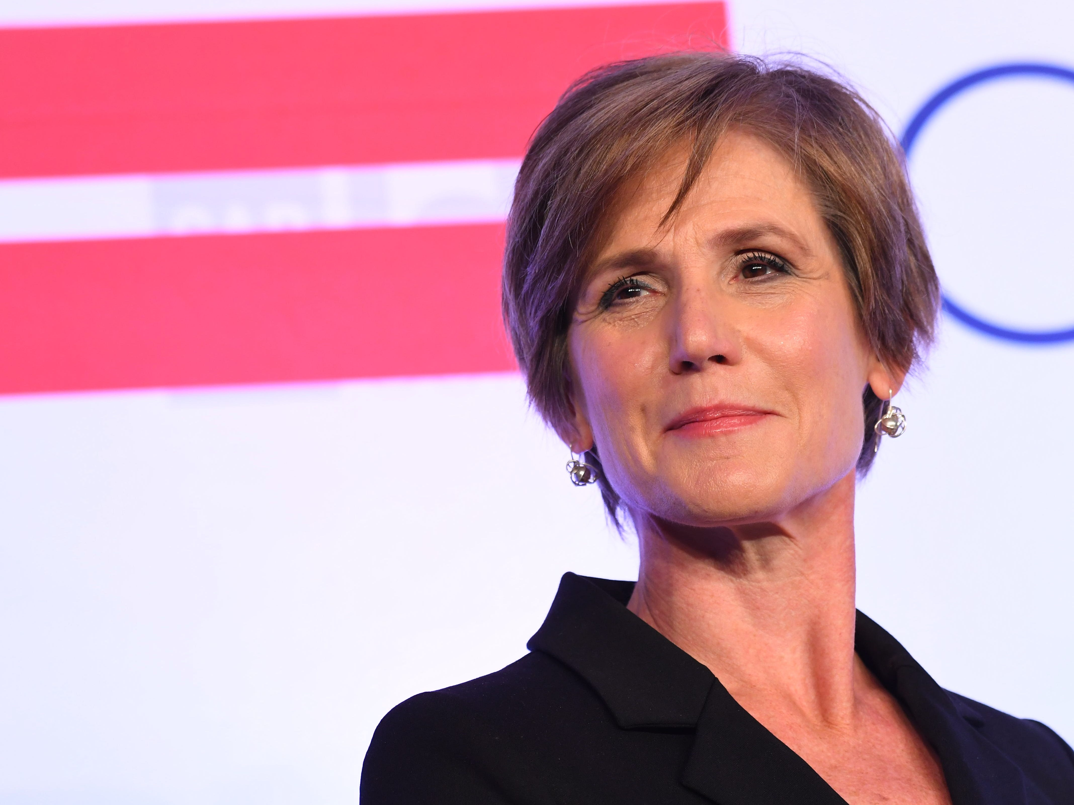 5/15/18 10:10:21 AM -- Washington, DC  -- Sally Yates, former acting U.S. Attorney General, during a session of the Center for American Progress (CAP) annual ideas conference. --    Photo by Jack Gruber, USA TODAY staff ORG XMIT:  JG 137178 Democrats-CAP 05/15/2018 [Via MerlinFTP Drop]