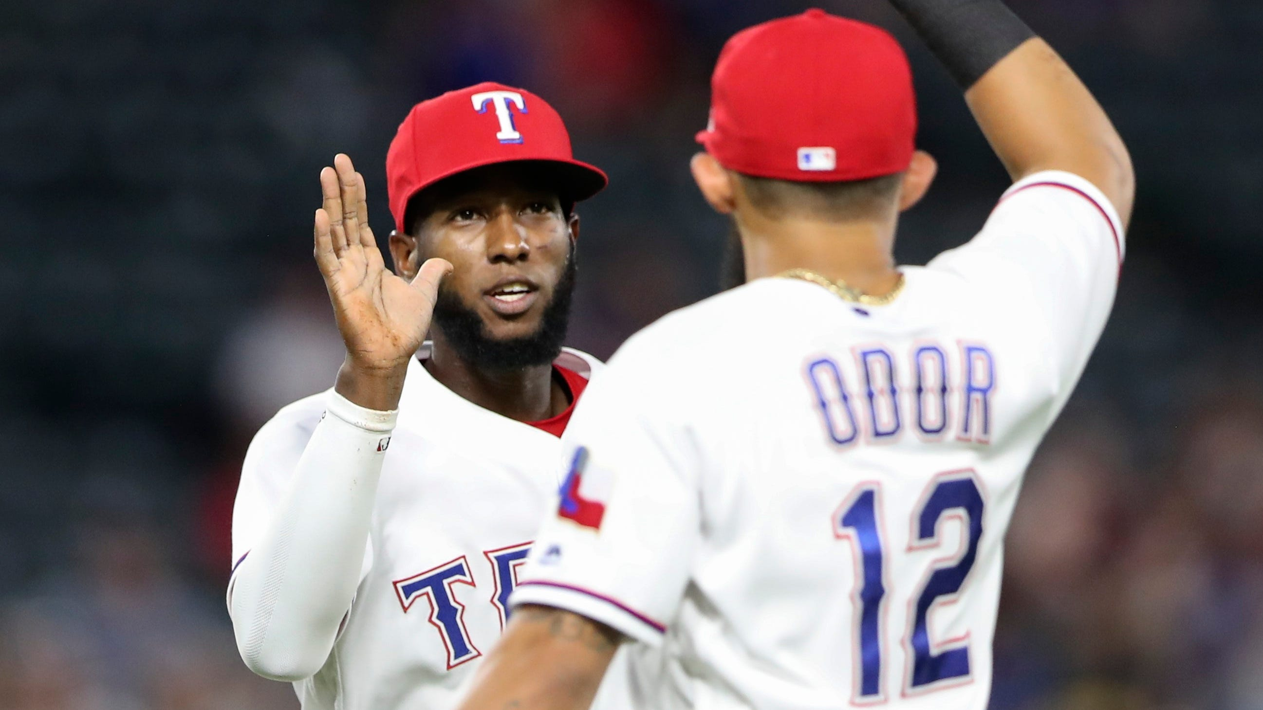Jurickson Profar and Rougned Odor turned a triple play and helped the Rangers rally for a win.