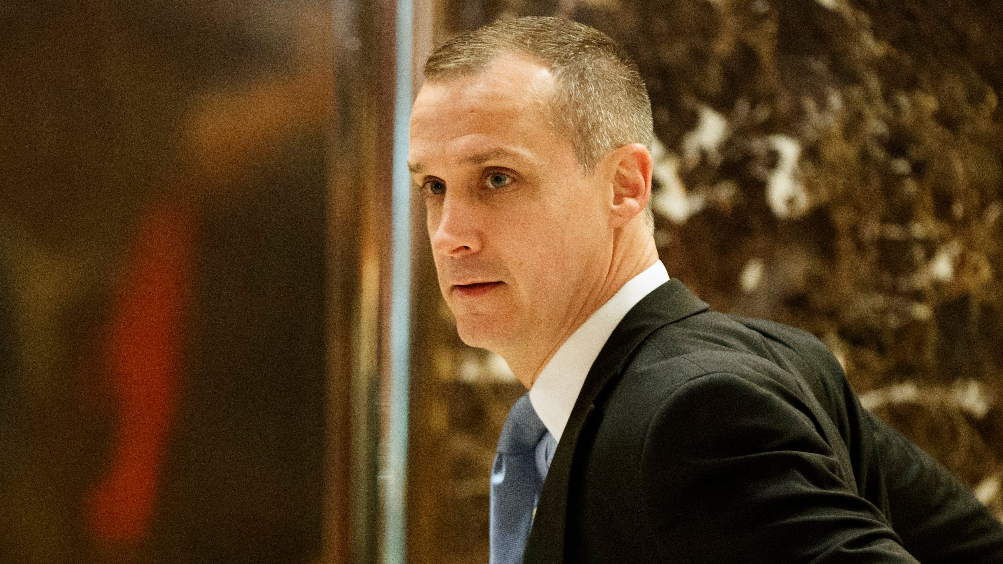 Corey Lewandowski, former campaign manager for President Donald Trump, at Trump Tower, on Nov. 29, 2016, in New York.