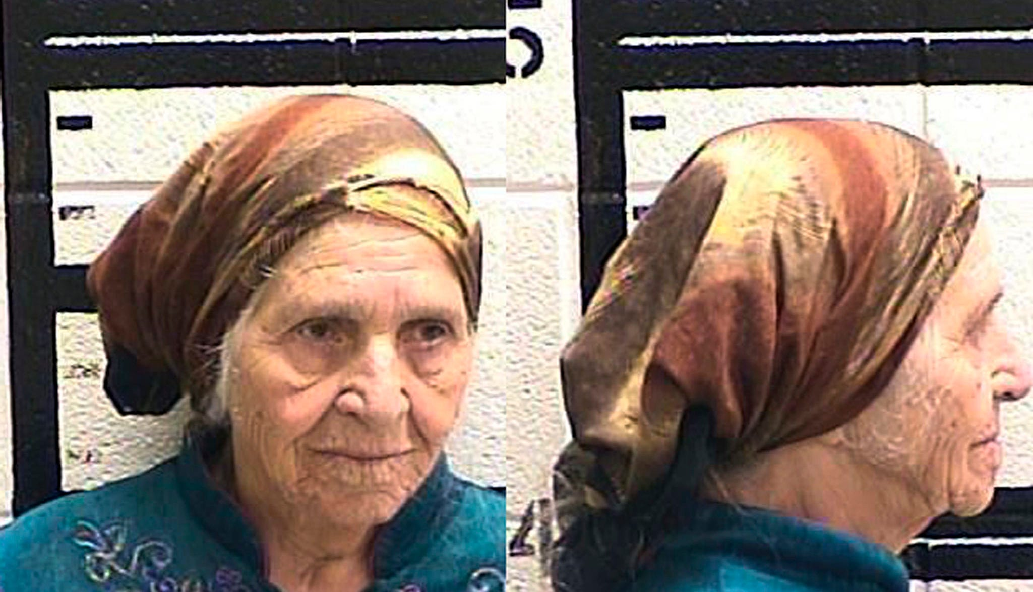 This Friday, Aug. 10, 2018 photo released by the Murray County Jail, Ga. shows Martha Al-Bishara, 87, under arrest. Al-Bishara was charged with criminal trespass and obstructing an officer Friday when police held her at gunpoint before bringing her to the ground with a jolt from the electrified prongs of a stun gun. Officers used the taser on Al-Bishara when she didn't obey commands to drop a knife in her hand. Relatives said Al-Bishara does't speak English and was merely cutting out dandelions with a kitchen knife near her home in Chatsworth. (Murray County Jail via AP) ORG XMIT: MH101