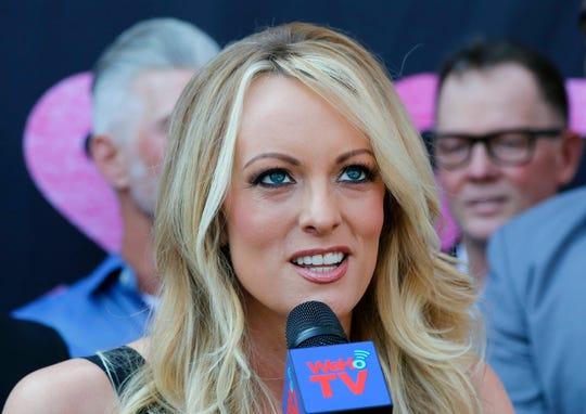 File photo shows Stormy Daniels, the stage name of Stephanie Clifford, an adult film star who has said she had a sexual affair with President Donald Trump.