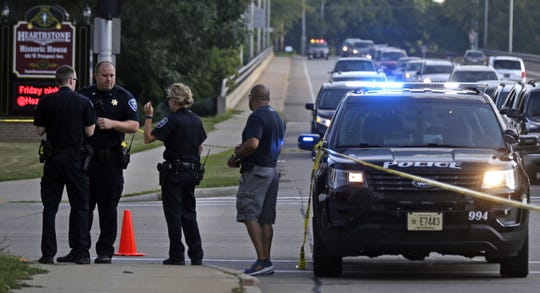 Appleton police investigate a drive-by shooting Saturday afternoon at the intersection of South Memorial Drive and West Prospect Avenue.