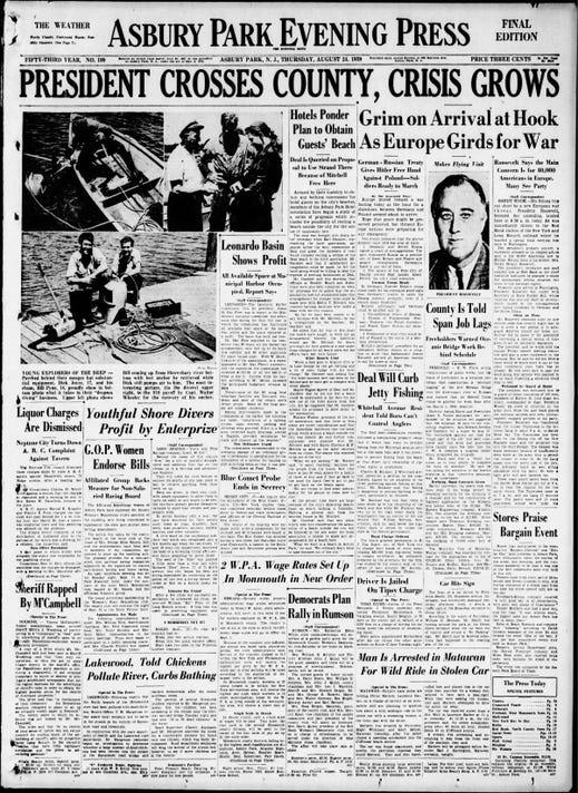 Asbury Park Press Thu Aug 24 1939