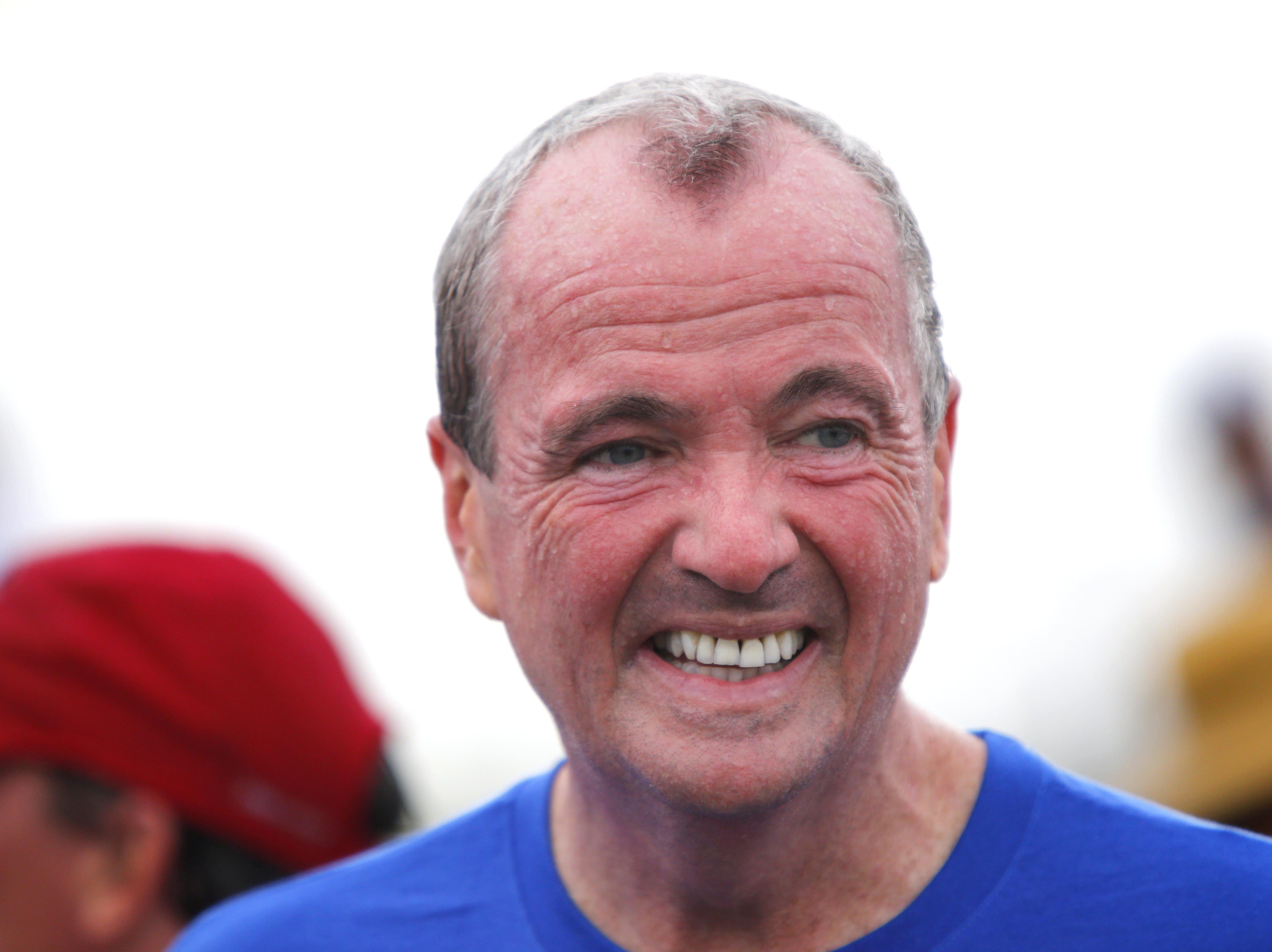 NJ Gov. Phil Murphy after completing the Bradley Beach 5K race Saturday, Aug. 17, 2018.