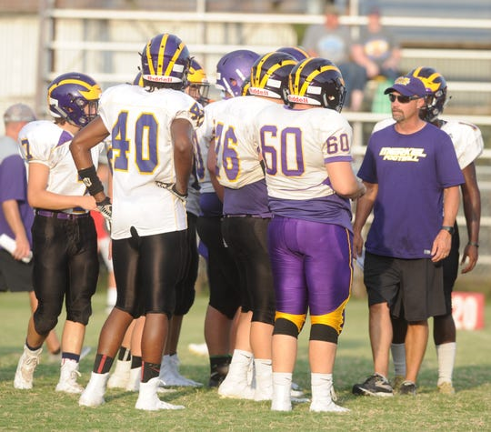 Merkel head football coach John Cornelius, shown here during a 2018 scrimmage, will take the same position at Sudan.