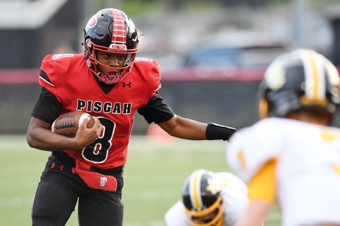 Pisgah and sophomore quarterback Korey Griffith (No. 8) host rival Tuscola tonight.