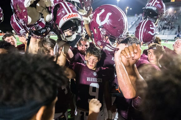 The Owen high school Warhorses opened their 2018 football season at home with the Enka Jets, defeating them 34-7.