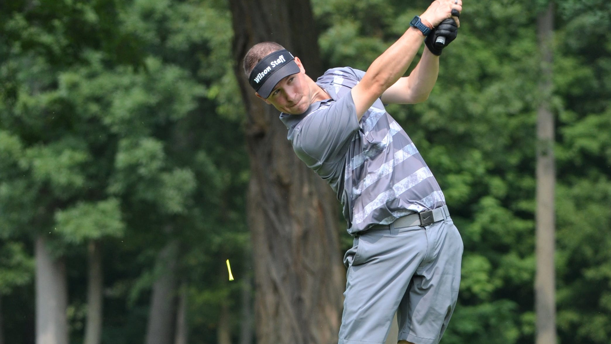 Former Lakeview and Northwood University standout Kory Roberts was the leader after the first day of the Cahoun County Amateur Golf Championship on Saturday.