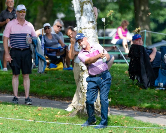 Marco Dawson had a rough start on Friday, hitting out of the faraway off the tee on one at the Dick's Sporting Goods Open on Saturday in Endicott, New York.