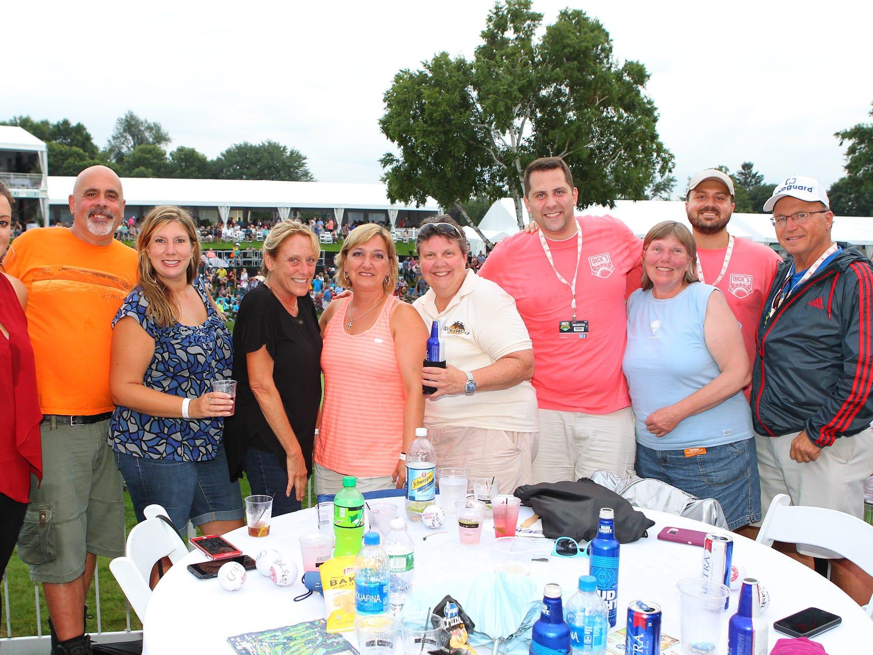Mary, Doug, Crystal, Ivy, Gina, Kathy, Chris, Charlotte, Cal and Rick getting ready to enjoy the Blak Shelton concert.