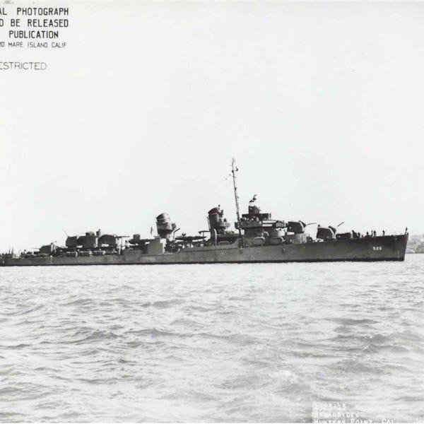 Shipyard repaired World War II destroyer USS Abner Read after stern damage in Alaska