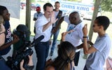 """Democratic candidate for governor Chris King made a campaign stop in Viera at Saturday's """"Rally to the Polls"""" hosted by Speak Out Brevard"""