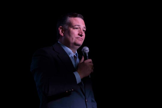 U.S. Senator Ted Cruz speaks to supporters during a campaign event on Saturday, August 16, 2018, at House of Rock in Corpus Christi.