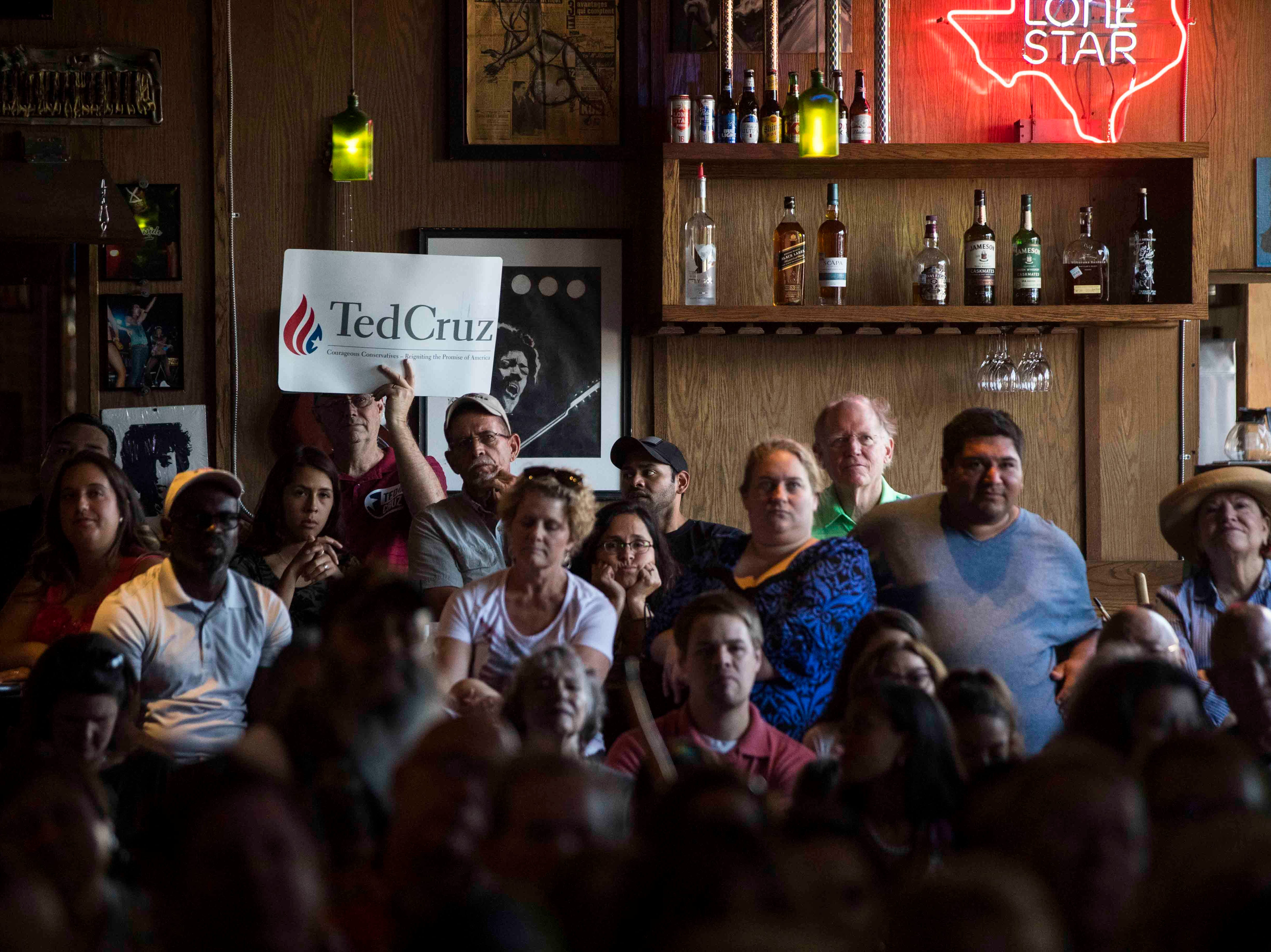 People gather for a Ted Cruz campaign event on Saturday, August 16, 2018, at House of Rock.